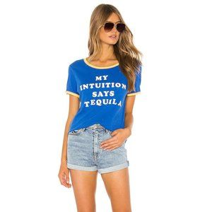 Wildfox My Intuition Says Tequila Ring Neck TShirt